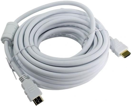 Кабель HDMI 10м AOpen ACG711DW-10M круглый белый цена