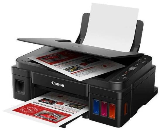 МФУ Canon PIXMA G3411 (Струйный, СНПЧ, WiFi, 4800x1200, 8,8 изобр./мин для ч/б, 5,0 изобр./мин для цветной, A4, A5, B5, LTR, конверт, фотобумага: 13x1 мфу с снпч для домашнего пользования дешевый и надежный
