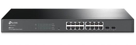 Коммутатор TP-LINK T1600G-18TS JetStream 16-портовый гигабитный Smart коммутатор с 2 SFP-слотами T1600G-18TS (TL-SG2216) коммутатор tp link tl sg1048 48 портовый гигабитный монтируемый в стойку коммутатор
