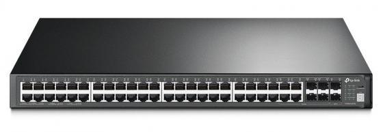 Коммутатор TP-LINK T3700G-52TQ JetStream 52-портовый гигабитный управляемый стекируемый коммутатор 3 уровня коммутатор tp link t3700g 52tq jetstream 52 портовый гигабитный управляемый стекируемый коммутатор 3 уровня