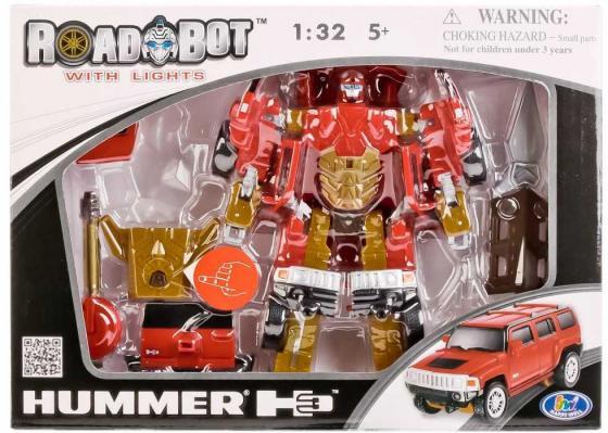 Робот-трансформер HAPPY WELL ROAD BOT МАШИНА 52030 роботы happy well робот трансформер hummer h3 свет 1 32