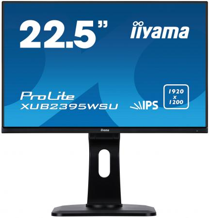 Монитор 23 iiYama ProLite XUB2395WSU-B1 черный IPS 1920x1200 250 cd/m^2 4 ms HDMI DisplayPort VGA Аудио USB монитор 23 iiyama prolite xub2390hs b1 черный ah ips 1920x1080 250 cd m^2 5 ms аудио dvi hdmi vga