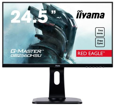 Монитор Iiyama 24.5 G-Master GB2560HSU-B1 черный TN LED 1ms 16:9 HDMI M/M матовая HAS Pivot 250cd 170гр/160гр 1920x1080 DisplayPort FHD USB 5.6кг монитор 27 iiyama g master gb2783qsu b1 tn led 2560x1440 1ms dvi hdmi displayport page 9