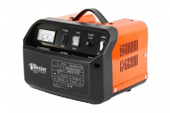 Зарядное устройство WESTER CH15 для АКБ 150Вт 12/24В 11.0/7.0А зарядное устройство bosch gax 18v 30 для акб 12 14 4 18 в и usb 1600a011a9