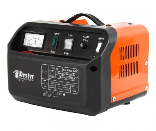 Зарядное устройство WESTER CH20 для АКБ 300Вт 12/24В 16/10А зарядное устр во автоматич wester cb15 307вт 12в 10а 7 этапов