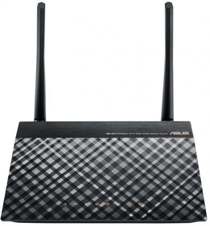 Маршрутизатор ASUS DSL-N16 802.11bgn 100Mbps 2.4 ГГц 4xLAN LAN черный цена