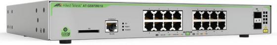Коммутатор Allied Telesis AT-GS970M/18-50 16G 2SFP управляемый коммутатор allied telesis at fs970m 16f8 lc 50 управляемый 19u 8x10 100base tx
