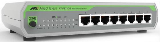 Коммутатор Allied Telesis AT-FS710/8-50 8x100Mb неуправляемый коммутатор allied telesis at fs710 24 50 24x100mb неуправляемый