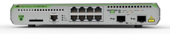 Коммутатор Allied Telesis AT-GS970M/10-50 8G 2SFP управляемый коммутатор allied telesis at gs950 24 управляемый 24xgblan 2xsfp