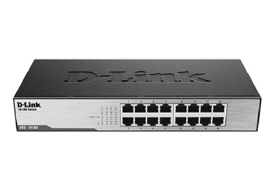 Коммутатор D-Link DES-1016D/H1A 16x100Mb неуправляемый цена и фото