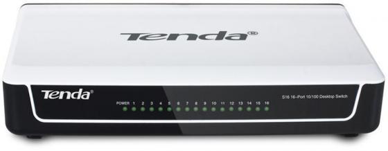 Коммутатор Tenda S16 16x100Mb неуправляемый английская версия tenda n301 300mbps wifi router