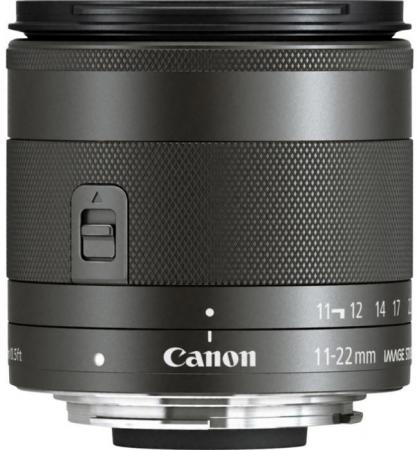 Объектив Canon EF-M IS STM (7568B005) 11-22мм f/4-5.6 черный объектив canon ef s is stm 1620c005 18 55мм f 4 5 6 черный