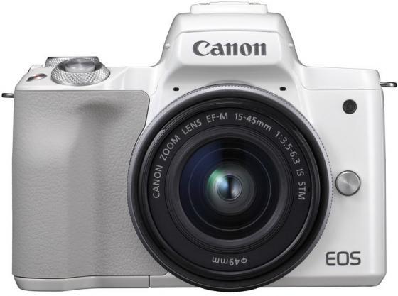 Фото - Фотоаппарат Canon EOS M50 белый 24.1Mpix 3 4K WiFi 15-45 IS STM LP-E12 фотоаппарат
