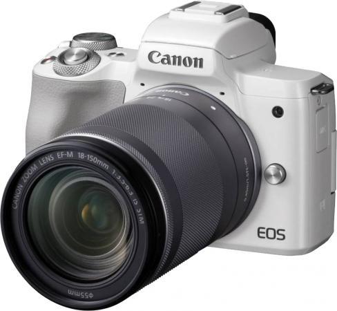 Фото - Фотоаппарат Canon EOS M50 белый 24.1Mpix 3 4K WiFi 18-150 IS STM LP-E12 фотоаппарат