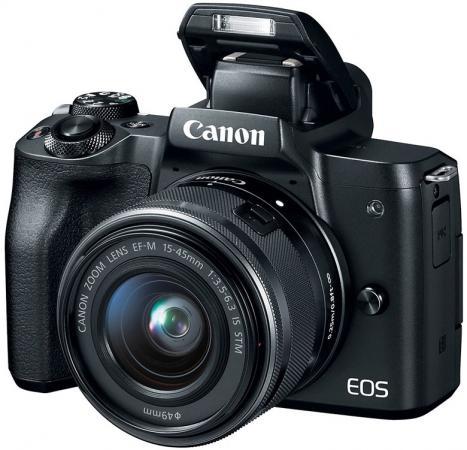 """Фотоаппарат Canon EOS M50 черный 24.1Mpix 3"""" 4K WiFi 18-150 IS STM LP-E12 зеркальная фотокамера canon eos 700d kit 18 55 is stm 18 5mp черный"""