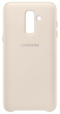 Чехол (клип-кейс) Samsung для Samsung Galaxy J8 (2018) Dual Layer Cover золотистый (EF-PJ810CFEGRU) клип кейс samsung dual layer cover для samsung galaxy j3 2017 золотистый