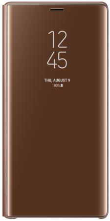 купить Чехол (флип-кейс) Samsung для Samsung Galaxy Note 9 Clear View Standing Cover коричневый (EF-ZN960CAEGRU) по цене 2570 рублей