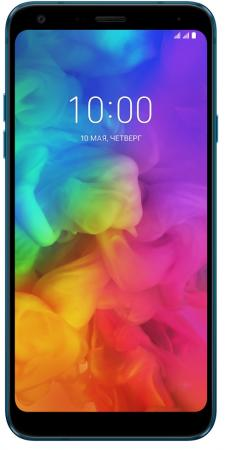 Смартфон LG Q7+ синий 5.5 64 Гб LTE NFC Wi-Fi GPS 3G LMQ610NA.ACISBL смартфон nokia 7 plus черный 6 64 гб nfc lte wi fi gps 3g