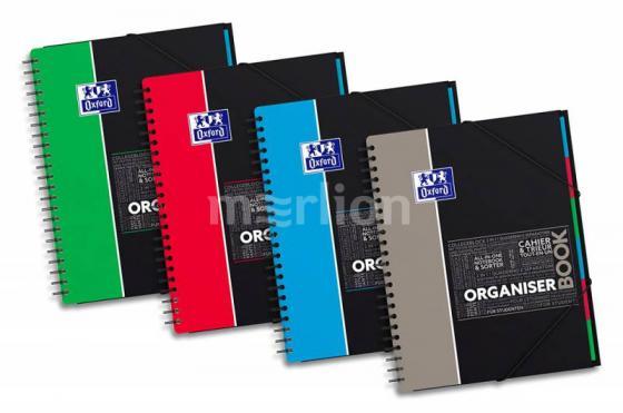 Тетрадь Oxford ORGANISERBOOK SOS Notes 400037404 A4+ PP 80л линейка папка с 3 клапанами спираль двойная oxford borboniqua oxford