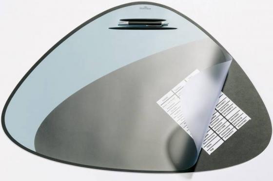 Настольное покрытие Durable Vegas (7208-01) 69х51см черный/серый эргономичная форма нескользящая основа прозрачный верхний слой настольное покрытие durable 7224 01 65х52см черный нескользящая основа