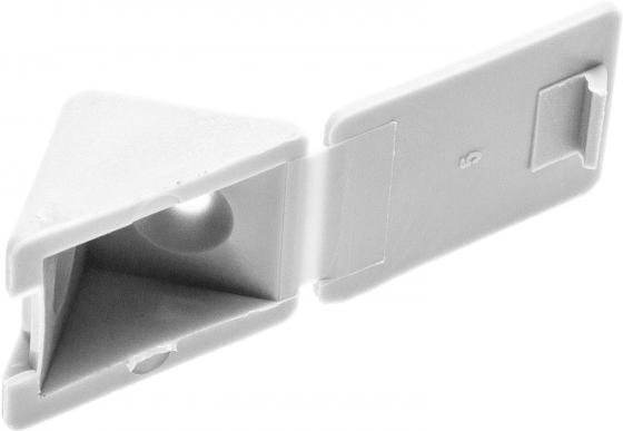 Уголок ЗУБР 4-308256-3  мебельный с шурупом, цвет белый, 4,0x15мм, 4шт