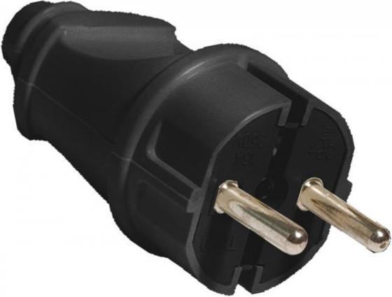 Вилка TDM SQ1806-0004 прямая с/з черная 16А 250В цена и фото