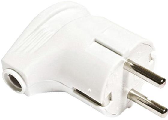 Вилка TDM SQ1806-0007 угловая с/з белая 16А 250В