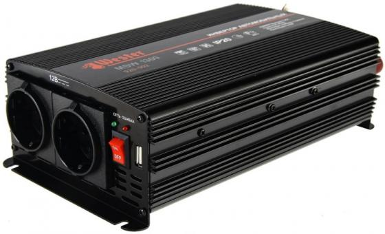Преобразователь инверторный а/м WESTER MSW1300 24-220В+USB; 1300Вт модифицированная синусоида преобразователь инверторный а м wester msw250 12 220в usb 250вт модифицированная синусоида