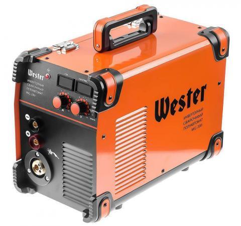 Сварочный полуавтомат инверторный WESTER MIG-200i MIG/MAG/MMA 40-200A 0.6-1.2 мм евроразьем сварочный полуавтомат кедр mig 300gd