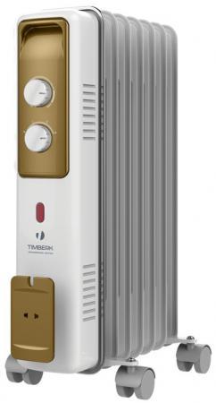 Масляный радиатор Timberk TOR 21.1507 BCX 1500 Вт белый масляный обогреватель timberk tor 21 1507 bcx i