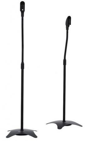 Кронштейн для акустических систем Ultramounts UM 604 черный макс.3.5кг напольный поворот и наклон white light