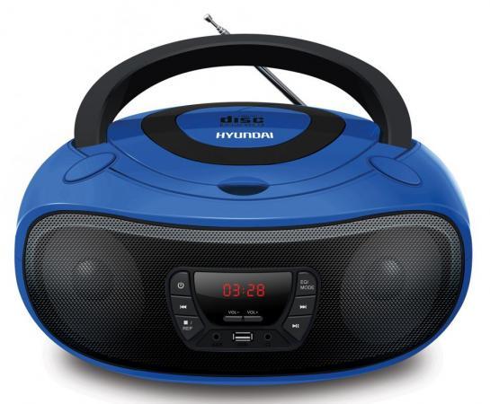 Аудиомагнитола Hyundai H-PCD240 синий/черный 4Вт/CD/CDRW/MP3/FM(dig)/USB/SD/MMC/microSD цена