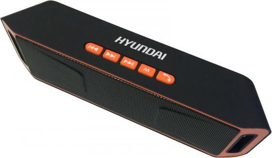 Колонки Hyundai H-PAC160 1.0 черный/оранжевый 6Вт беспроводные BT беспроводные колонки к компьютеру