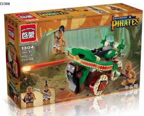 Конструктор ENLIGHTEN BRICK Пираты с фигурками 146 элементов BRICK1304 конструктор enlighten brick пиратский остров с фигурками 95 элементов brick314