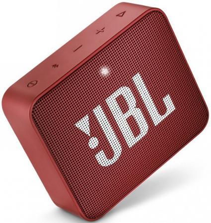 Динамик JBL Портативная акустическая система JBL GO 2 красный портативная акустическая система jbl go 2 серый