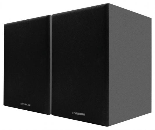 Комплект акустики Hyundai H-HA100 2.0 15Вт черный (в комплекте: 2 колонки) колонки hyundai h pac100 1 0 черный 3вт беспроводные bt