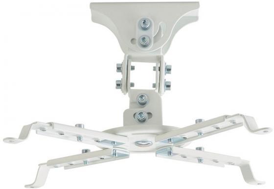 Фото - Кронштейн для проектора Kromax PROJECTOR-45 белый макс.12кг потолочный поворот и наклон карниз потолочный пластиковый dda поворот акант двухрядный серебро 2 8