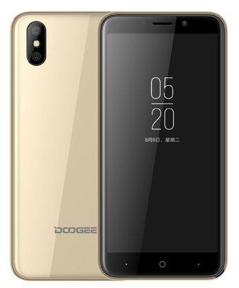 Смартфон Doogee X50 золотистый 5 8 Гб Wi-Fi GPS 3G смартфон ark benefit s503 черный 5 8 гб wi fi gps 3g