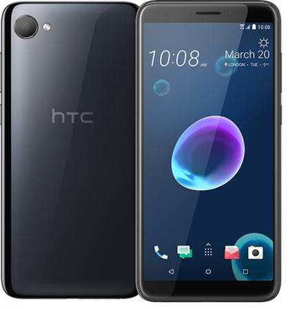 Смартфон HTC Desire 12 Cool Black (2Q5V100) EEA, 5.5'' 1440x720, 1.5GHz, 4 Core, 3GB RAM, 32GB, up to 2TB flash, 13Mpix/5Mpix, 2 Sim, 2G, 3G, LTE, IRDA, BT, Wi-Fi, GPS, Glonass, Micro-USB, 2730mAh, Android O, 137g, 148.5x70.8x8.2