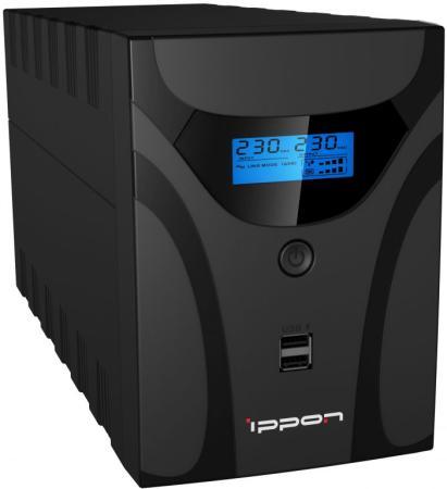Источник бесперебойного питания Ippon Smart Power Pro II Euro 1200 720Вт 1200ВА черный цена и фото