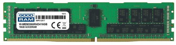 Оперативная память 16Gb (1x16Gb) PC4-21300 2666MHz DDR4 DIMM ECC Registered Goodram W-MEM2666R4D416G оперативная память samsung ecc reg ddr4 16gb 2666mhz pc 21300 m393a2g40eb2 ctd