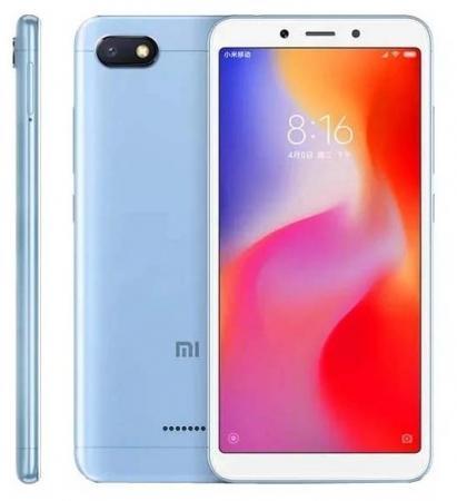 Смартфон Xiaomi Redmi 6A голубой 5.45 32 Гб LTE Wi-Fi GPS 3G смартфон xiaomi redmi note 4 черный 5 5 64 гб lte wi fi gps 3g redminote4bl64gb