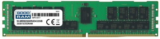 Модуль памяти GoodRam Модуль памяти 32GB DDR4 PC4-21300 ECC REG. 1GX4 1.2V модуль памяти lenovo thinkserver 32gb sd card 4x70f28593