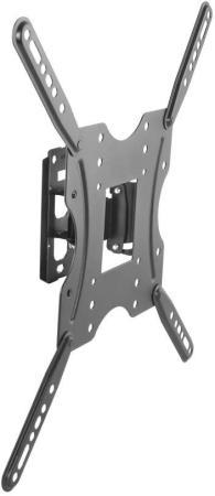 Кронштейн для телевизора Ultramounts UM 859 черный 32-55 макс.30кг настенный поворот и наклон кронштейн ultramounts um 888s для свч 30кг серебристый