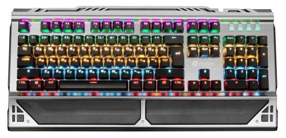 Клавиатура проводная Oklick 980G USB черный цена и фото