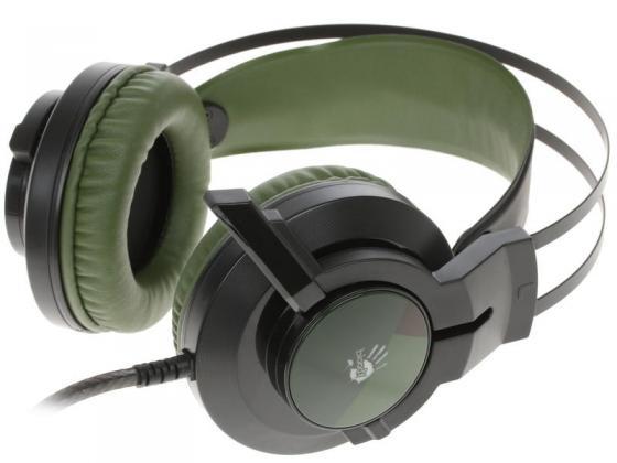 Игровая гарнитура проводная A4TECH A4Tech Bloody J450 черный зеленый все цены