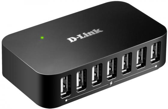 Концентратор сетевой D-Link 7-port USB 2.0 HUB, 7 type A ports and 1 type B port orico aluminum type c hub with network adapter usb3 1 gen1 with 2 usb3 0 ports and 1 rj45 and 1 typec port rcr2a