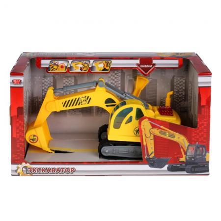Экскаватор Технопарк ЭКСКАВАТОР желтый WY306S (24) игрушка технопарк экскаватор u1401a 2
