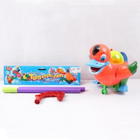 Каталка Play Smart УТОЧКА С ТРОСТЬЮ пластик от 1 года на колесах разноцветный B586-H28025 развивающая игрушка play smart каталка кит вертолет разноцветный