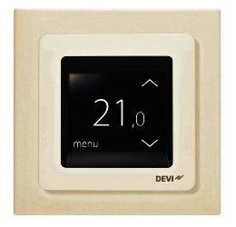140F1078 DEVIreg Touch Ivory Терморегулятор терморегулятор devi devireg touch white 140f1064